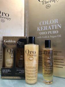 FANOLA-Oro-Puro-Kit-Golden-Secret-Body-Shampoo-250ml-Fluido-100ml-IDRATA