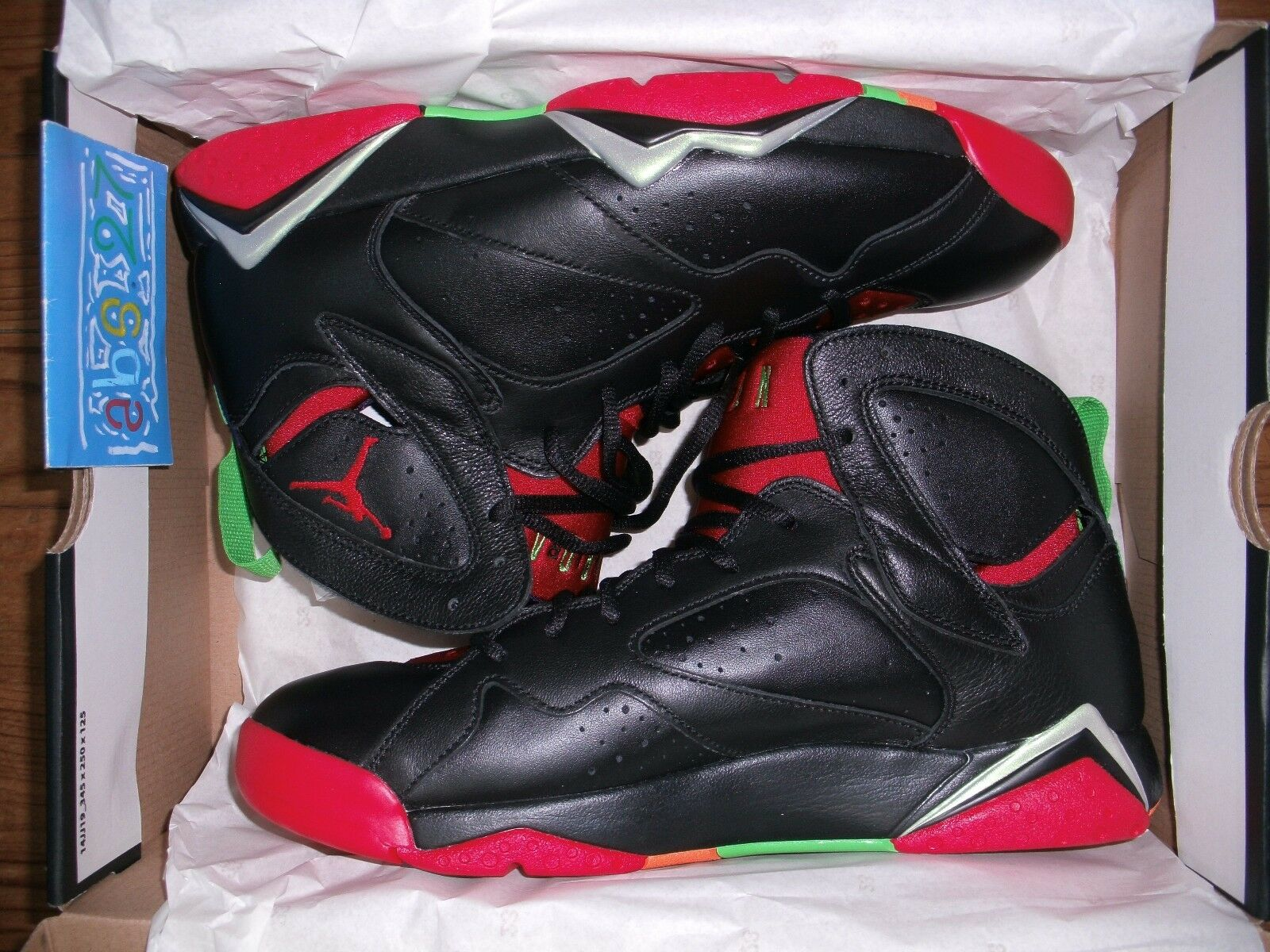 NIKE air Jordan 7 VII retro Marvin the martian 2018 44 10us 9Uk DS Noir red