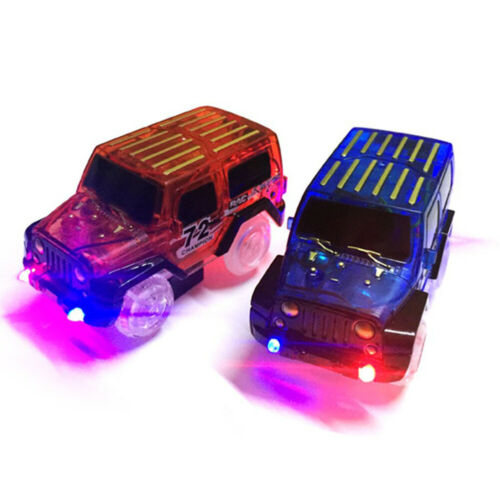 LED light up Cars for Magic-Tracks Kids Toys car for Children Race Car Toy Smart