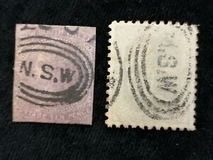 Australia (colonie britannica) neusüdwales a partire dal 1854-francobolli con timbro N.S.W.