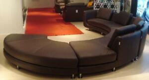 Ultra Modern Espresso Genuine Leather Sectional Sofa SPECIAL ORDER ...