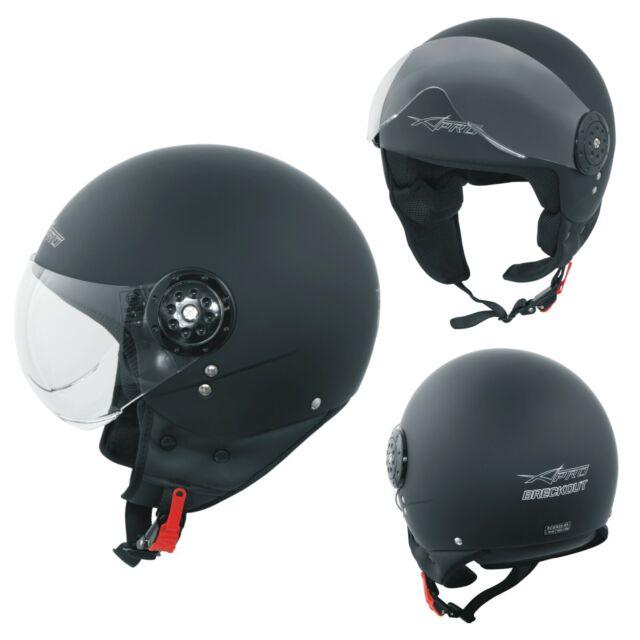 Casco jet moto maxi scooter Scorpion Exo City nero lucido black