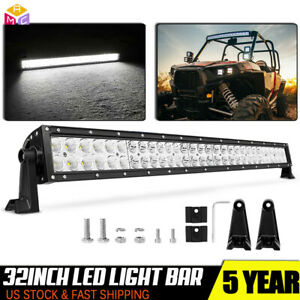 32inch LED Light Bar Spot Flood Combo Cree Work 4X4 Offroad Truck Jeep SUV 30//34