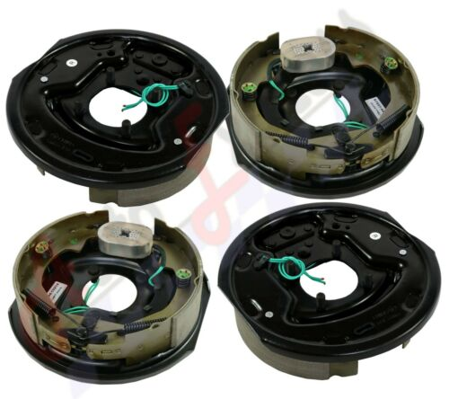"""4pc Electric Trailer Brake 10/"""" x 2.25/"""" Assembly Fits Dexter Right /& Left 3500 lb"""