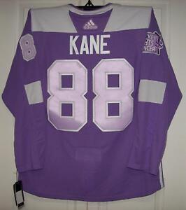 c4e526dd064 Image is loading KANE-Hockey-Fights-Cancer-Chicago-Blackhawks-Purple-255J-
