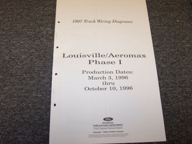 1997 Ford Louisville Aeromax Phase I Truck Electrical