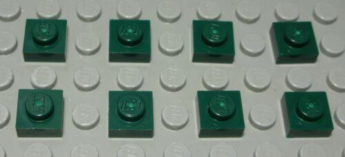 LEGO plaque 1x1 dunkelgrü 8 Pièce 2293