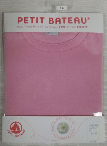 PETIT BATEAU Girl/'s Pink T-Shirt 71564 Sz 3 NEW $28