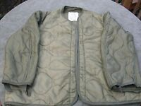 Used Large USMC US Army  M-65 Field Jacket Liner green quilted  - No buttons