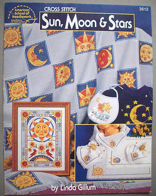 BETWEEN THE TWO cross stitch pattern sun moon yin yang punto cruz