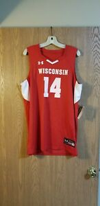 c86065bc2f58 Image is loading Under-Armour-Wisconsin-Badgers-14-Basketball-Jersey-Adult-