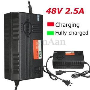 48V Output E-bike Scooter 2.5A Li-ion Lithium Battery Charger Adaptor W/ PC Plug