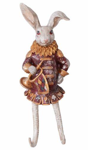 Hakenleiste Weisses Kaninchen Garderobenleiste Hase Haken Kleiderhaken