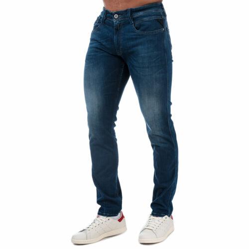 Hommes Replay Anbass Slim Fit Jeans en Indigo Denim