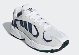 96cbec386 Image is loading Adidas-Yung-1-G27031-White-Green-Blue-Men-