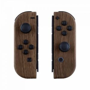 Soft-Touch-Wood-Grain-Housing-Shell-Cover-Buttons-for-Nintendo-Switch-Joy-Con