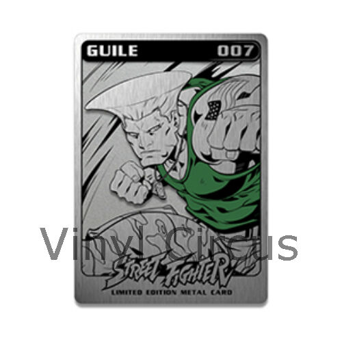 SDCC 2016 Udon Exclusive GUILE METAL STREET FIGHTER CARD SERIES 2  007