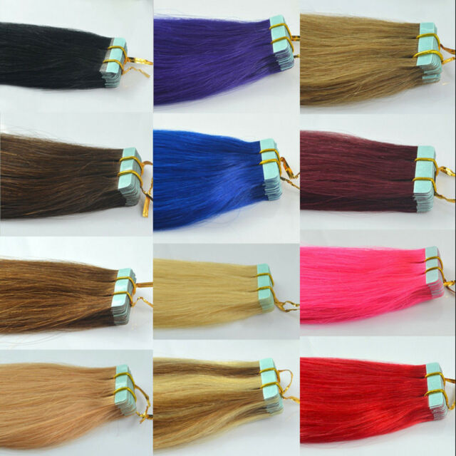"50gr 60gr 70gr Straight&Wavy 12""-24"" Remy AAA Tape-In 100% Human Hair Extensions"