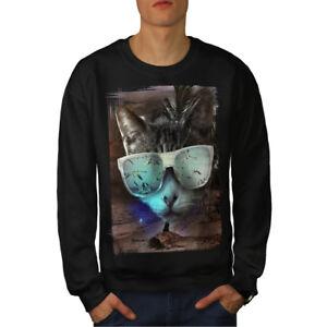 New Sweatshirt Men Cool Black Cat OqPwSxwF