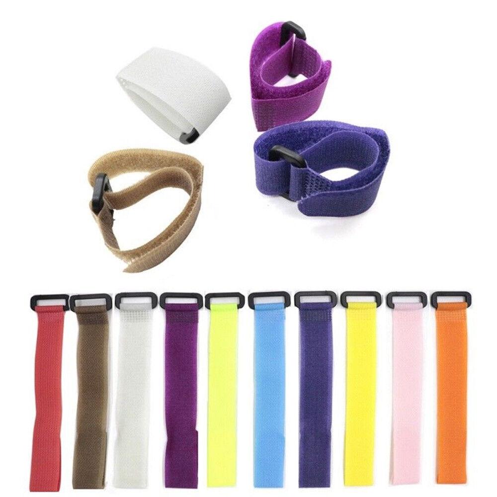 10x Reusable Fishing Rod Tie Holder Strap Fastener Ties Fishing Tools Supply/_ma