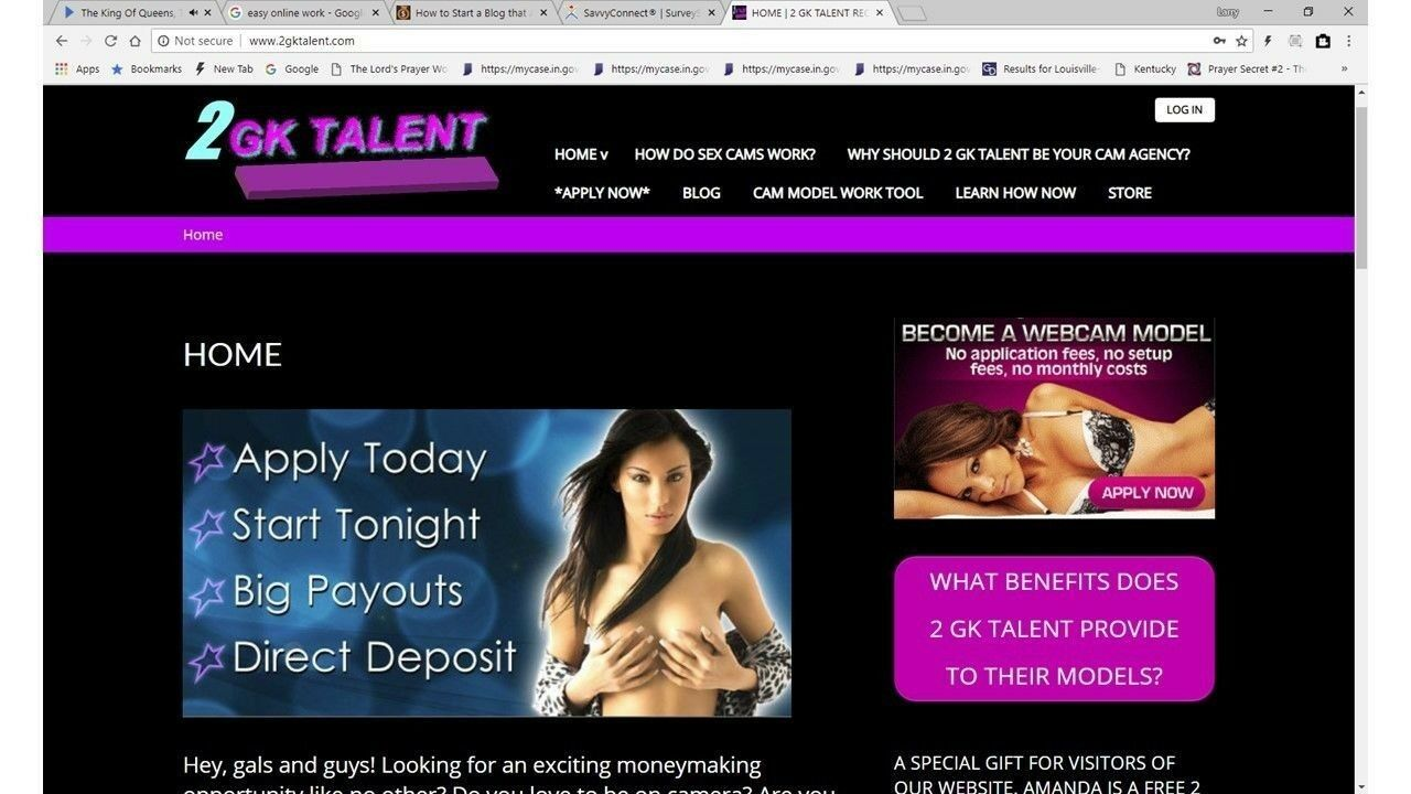 Own your own, webcam model, recruiting website, INSTALLATION, work at home, 2