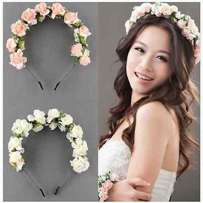 Flower hair wreath headdress Fancy Girl bridesmaid wedding festival Good Price