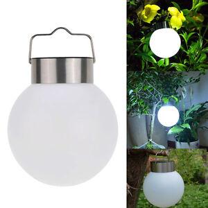 solarlampe led h nge solarleuchte kugel garten au enlampe h ngelampe nacht licht ebay. Black Bedroom Furniture Sets. Home Design Ideas