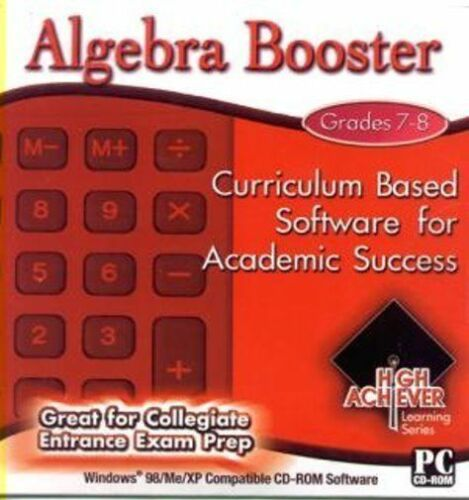 High Achiever Algebra Booster  Learn helpful tips and tricks   Brand New