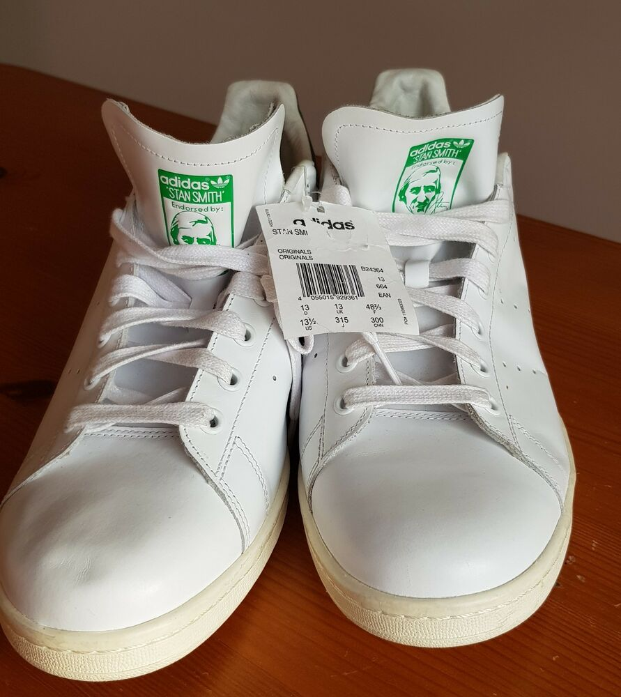 Adidas Originals Stan Smith taille 13 EUR 48 2/3 BNWT-