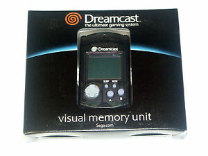 Speicherkarte-VMU-Visual-Memory-Unit-fuer-Sega-Dreamcast-Schwarz-Black-DC0024