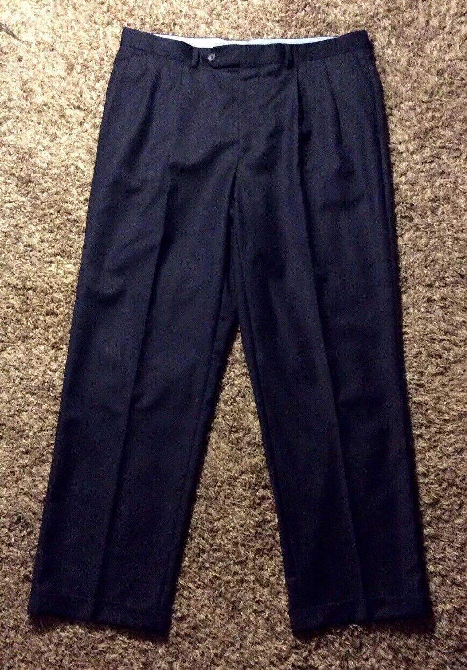 Men's Rare Recent Designer NWOT Samuelsohn bluee Pleated Casual Pants, 37 X 30