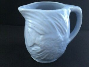 "McCoy 1935 Pitcher Angel Fish Blue Jug Made in USA 6"" (a)"