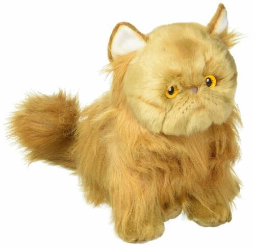 DEMDACO Sitting Large Persian Cat Muted Orange Childrens Plush Stuffed Animal