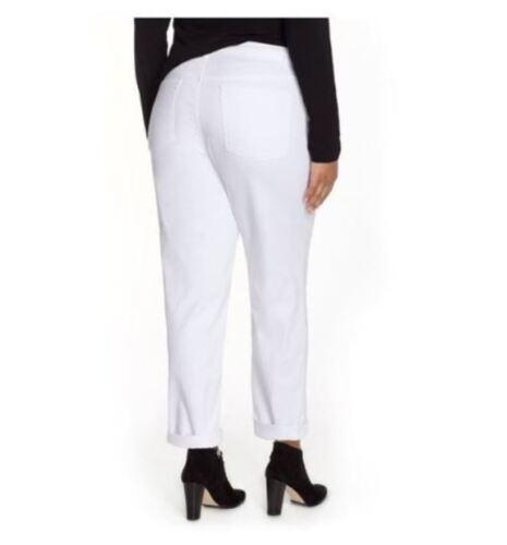 Eileen Fisher White Boyfriend Jeans Pants Plus Size 22W