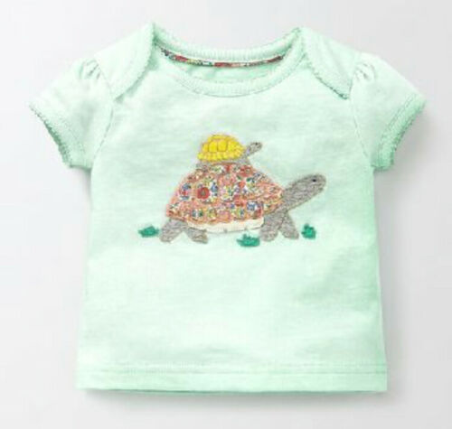 Ex Baby Boden Boys Girls Animal Applique Short Sleeve T-Shirt Top  0 3 6 9 12 18