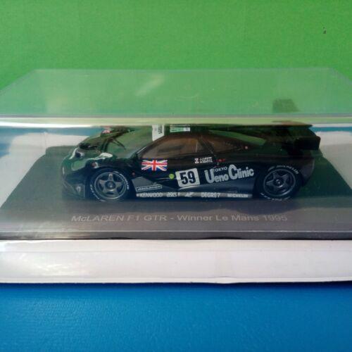 Modellino DIE CAST McLaren F1 GTR Winner Le Mans 1995 1//43 Spark Hachette