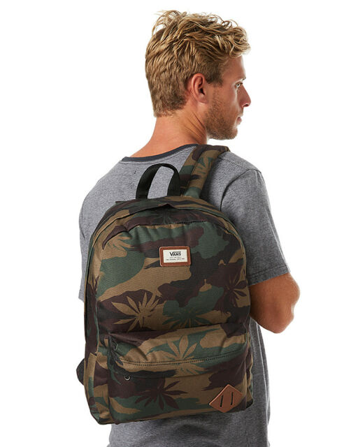 c9a839545f6448 Vans Off the Wall Camo Peace Leaf Backpack Skating School Gift Rare Old  Skool 2