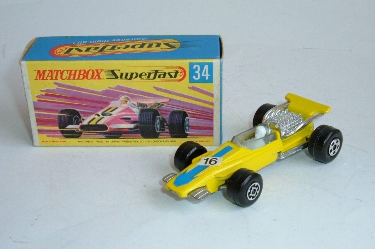 MATCHBOX SUPERFAST N ° 34, formule 1 voiture de course, menthe.