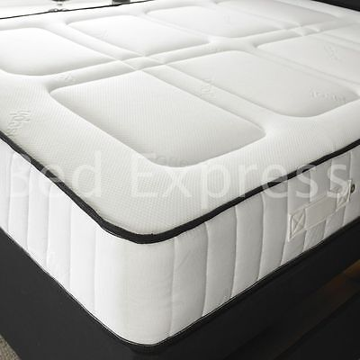 STAR MATTRESS 3FTSINGLE 4FT6 DOUBLE 5FT KING MEMORY FOAM MATTRESS 10""