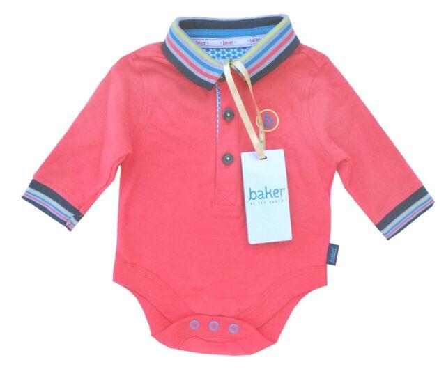 b41946f27ee5db Ted Baker Baby Boys Polo Romper Bodysuit Vest Orange DESIGNER Gift ...