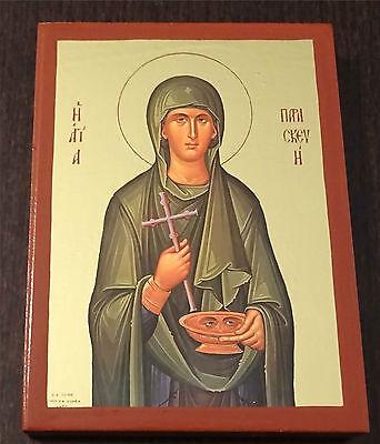 Ikone heilige Paraskewa икона святая Мученица Параскева Пятница 6x5x0,8 cm