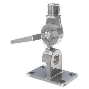 Shakespeare-4187-Stainless-Steel-4Way-Ratchet-VHF-Antenna-Side-Deck-Mount-BOX