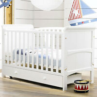 Tuscany 3 In 1 Cot Bed, Nursery Baby Crib, Converts To Junior & Day Bed, White