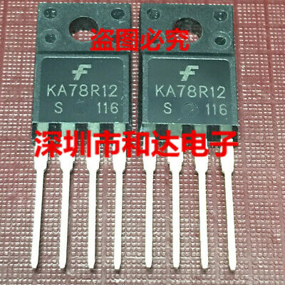 5PCS KA78R12 KA78R12CTU 1A Output Low Dropout Voltage Regulators TO-220F-4