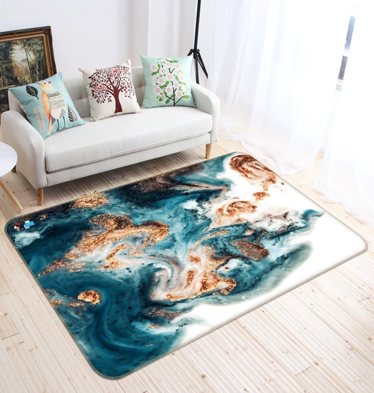 3D Ink Paint Pattern 5 Non Slip Rug Mat Room Mat Quality Elegant Photo Carpet AU