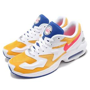 Nike Air Max2 Light Gold Yellow Crimson Blue Mens Running Shoes NSW ... 5fcc51066