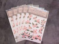 5 Packs Everyday Memories Rub On Transfer, Pink Flower Embellishment