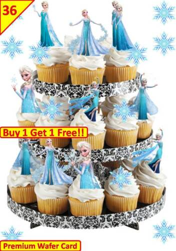 36 Baby Shower Girl STAND UP Cupcake Fairy Toppers Edible RicePaper Decorations