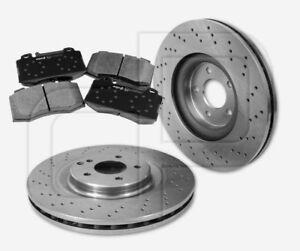 Bremsscheiben-und-Bremsbelaege-Mercedes-CKlasse-W203-CLK-SLK-vorne-345-mm-gelocht