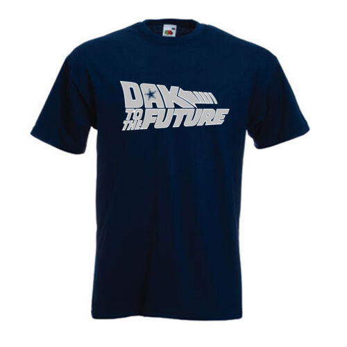 "Dallas Cowboys Dak Prescott /""Back to the Future/"" T-shirt jersey S-5XL"